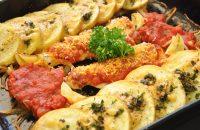 鱈とポテトの香り焼き アラビアータソース添え