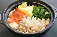 鮭と餅の北海鍋