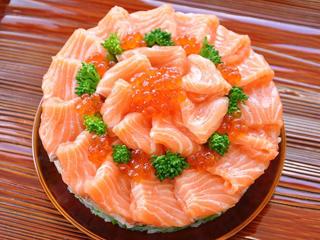 お雛様のちらし寿司