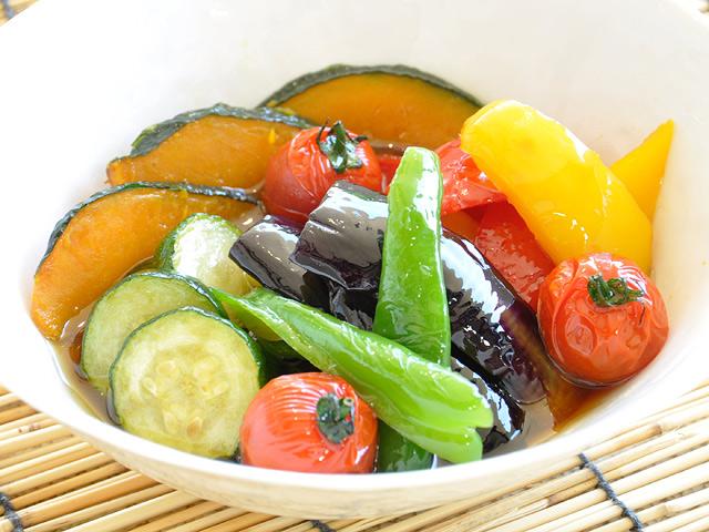 夏野菜の揚げ煮びたし